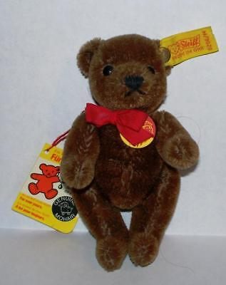 Vintage Steiff Original Mohair Teddy Bear Complete with Brass Button and Tags