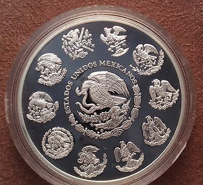 Ultra rare 1999/2000 Millennium Mexico 5 peso silver proof