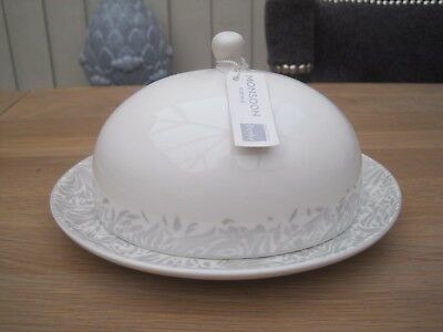 Denby Monsoon Lucille Silver Butter Dish