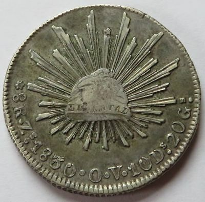 Mexico 1830-Zs, 3 over 6, 8 Reales O.V., Vintage Silver Mexican 8R coin(101036Y)