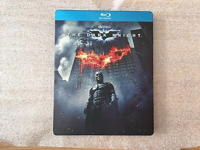Dc Batman Begins & The Dark Knight Blu-Ray very Rare Steelbook