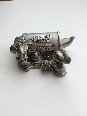 Spoontiques Pewter Mouse, Mice, Peapod's  Grocery, Work Of Art So----- Cute
