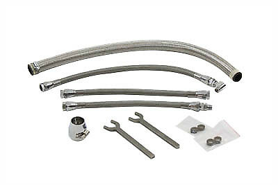 V-Twin 40-0651 - Sifton Braided Oil Line Kit