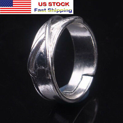 Super Dragon Ball Z DBZ Black Son Goku Gokou Time Finger Ring Silver Plated US