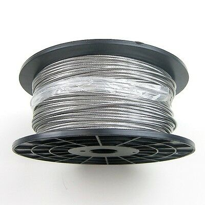 """500ft Reel - Galvanized Wire Rope Cable 7x19 - 3/16"""""""