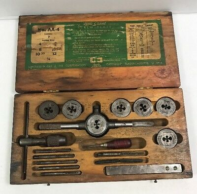 "OLD GREENFIELD TAP & DIE CORP SCREW PLATE No. AA-4  ""LITTLE GIANT"""