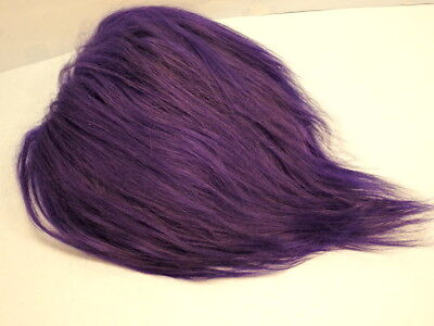 "Troll Doll Hair Replacement Mohair Wig for 604 Dam 7-9"" Trolls Royal Purple LONG"