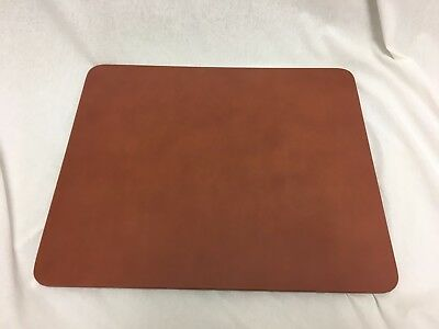 Chocolate Brown Genuine Leather Desk Pad, 17 x 14