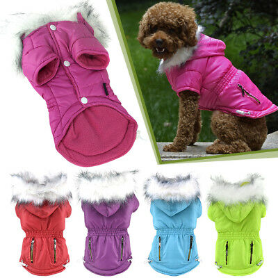6 Sizes Fashion Warm Pet Small Waterproof Dog Puppy Hoodie Jacket Coat Outerwear