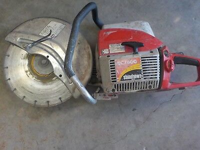 "SHINDAIWA EC7600 CONCRETE SAW w/ 14"" BLADE"