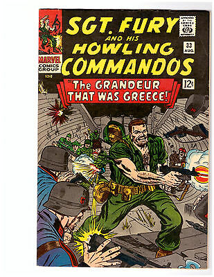 SGT. FURY AND HIS HOWLING COMMANDOS # 33 in VF from MARVEL comics 1966