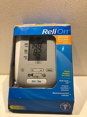 Relion Bp200 Upper Arm Blood Pressure Monitor With Cuff 2499