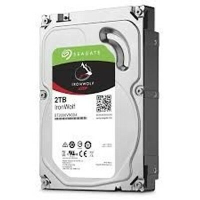 "Seagate 2000GB (2TB) 5900RPM 3.5"" SATA-III Gbps NAS HDD w. 64MB Cache - IronWolf"