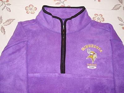 Minnesota Vikings Fleece Jacket Sweatshirt Purple