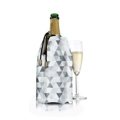 Vacu Vin Active Champagne Cooler Sleeve Diamond Grey Brand New