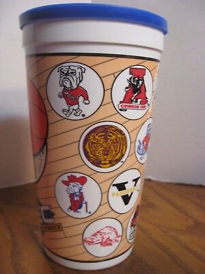 Hardees Southeastern SEC Conference Collectible 32oz. Plastic Cup w/ Lid 1993