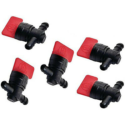 "5PCS 1/4"" FUEL SHUT OFF Valve Straight Inline Valve Switch For Briggs & Stratton"