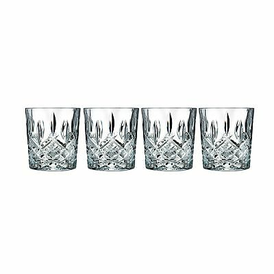 Marquis Waterford Glasses Markham Double Old Fashioned 4 Set Crystalline Cups