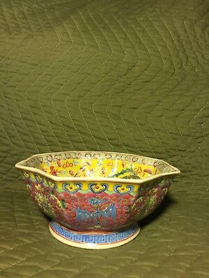Antique And Or Vintage Chinese Porcelain Pottery Bottom Signed Bowl Vase Pot