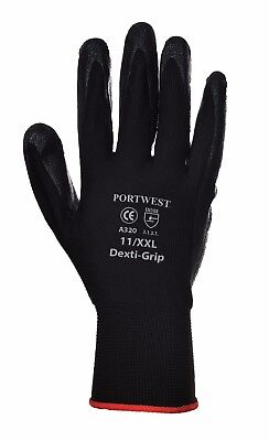 12 pairs GLOVES ninja style NITRILE WORK GLOVES available in sizes M/ L/ XL/ XXL