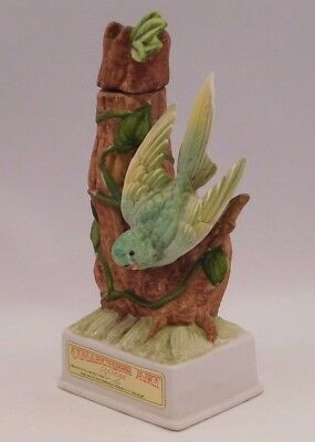 "Bud Hastin Collectors Art: 1971 Porcelain Bird Cologne Container ""Parakeet"""