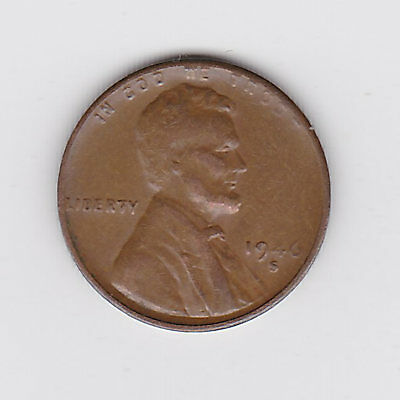 1946S Usa 'lincoln Wheat' One 1 Penny/cent