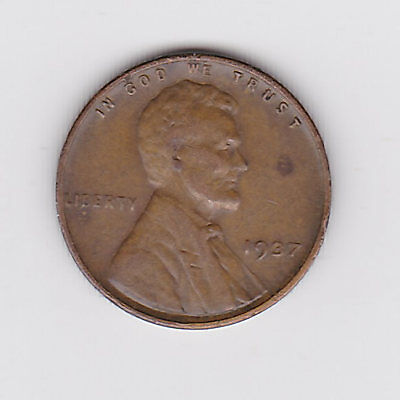1937 Usa 'lincoln Wheat' One 1 Penny/cent