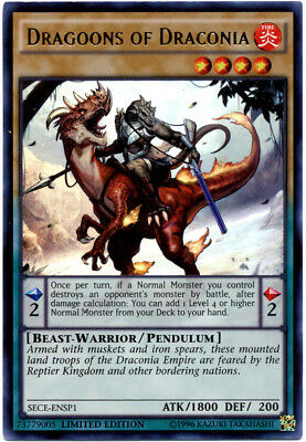 3x Dragoons of Draconia - SECE-ENSP1 - Ultra Rare - Limited Edition - Near Mint