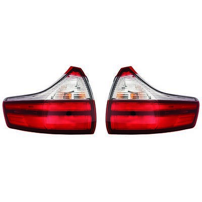 Fits 2015-2017 Toyota Sienna L|LE|XLE|Lmtd Outer Tail Light Pair CAPA TO2804123