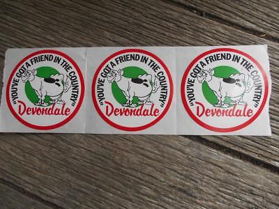 Vintage Devondale Dairy Milk Cow stickers You've Got a friend in the country