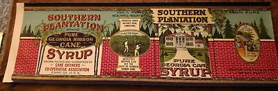 Southern Plantation Cane Syrup Can Label 1920's Cairo, Georgia Black Americana