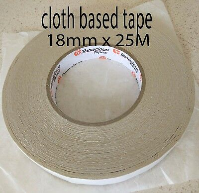 Tenacious Double Sided Cloth Tape 18mm x 25m