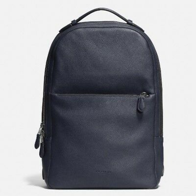 Nwt) Coach 72306 Metropolitan Soft Backpack In Refined Pebble Leather / Midnight