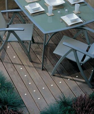 Kit of 30 32mm White LED Deck/Garden/Step/Plinth/Recessed Light OUTDOOR USE