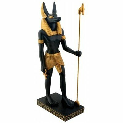 Ancient Egyptian Standing Anubis God Of The Afterlife W/ Spear Figurine GIFT NEW
