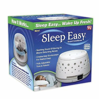 White Noise Sound Machine Soothing Sleep Therapy Calm Baby Relax Air Fan Sounds