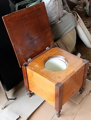 Antique Victorian Commode Potty With Chamber Pot