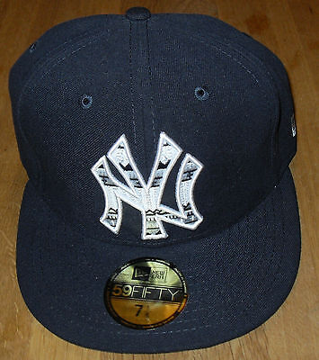 New Era MLB New York Yankees 59FIFTY Pattern Fill Cap Size 7   55.8cm