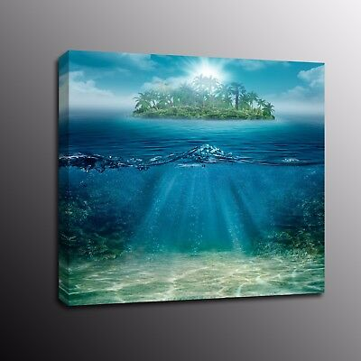Home Decor Canvas Prints island and ocean scenery Wall Art Painting Picture