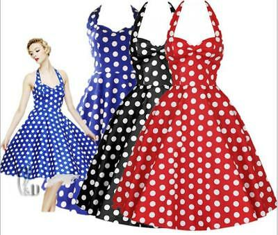 WHOLESALE BULK LOT 10 MIXED COLOUR SIZE 50'S Vintage Rockabilly Dress dr186