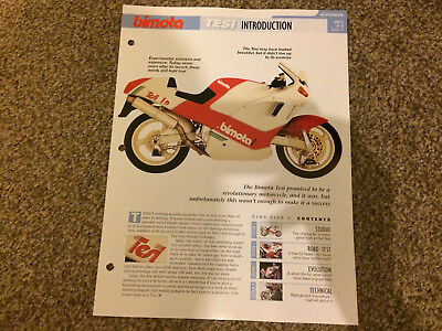 BIMOTA TESI The Complete fact file from Essential Superbikes