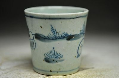 Perfect Chinese antique Porcelain hand carved cup h05