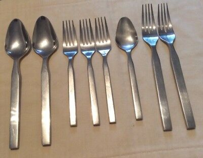 8 piece lot of Towle vintage ISIS Stainless Japan Flatware Glossy Surpreme  18/8
