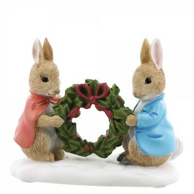 New * Flopsy And Holly * Peter Rabbit Beatrix Figurine Statue - A28966
