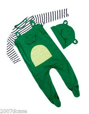 New Next Baby Boys Outfit Frog Romper Hat Set Sleepsuit Babygrow NB 0 3 Months