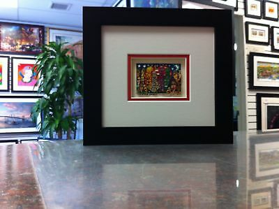 """James Rizzi 3D Artwork  """" Big Apple Bunch """" Signed & Numbered 2002"""