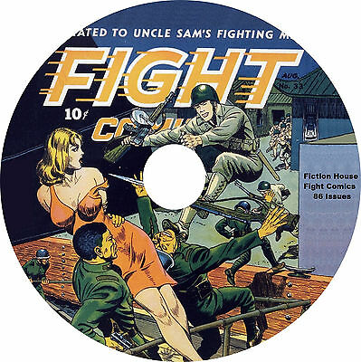 Golden Age Fight Comics on DVD-R 86 Issues with reader software