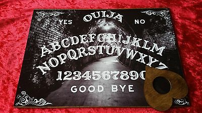 Wooden Ouija Board Spirit Light & Planchette ghost hunt Instructions Witch EVP