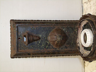 Antique Cast Iron Early Century Outdoor Porch Wall Sconce