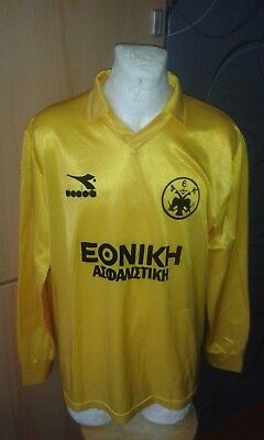 Diadora Aek Athens Greece Match Batista Era Vintage Trikot Football Shirt Rare